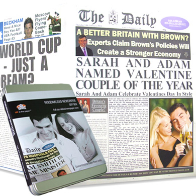 Lover's Personalized Newspaper