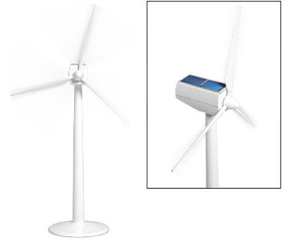 Solar Powered Desk Wind Turbine