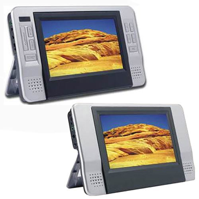 "Curtis Dual 7"" Screen Portable DVD Player"
