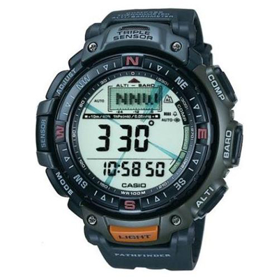 Pathfinder Triple Sensor Men's Rubber Watch