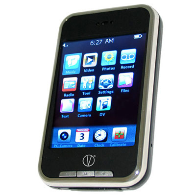 V-Touch 8GB MP3 And MP4 Touch Screen Personal Media Player