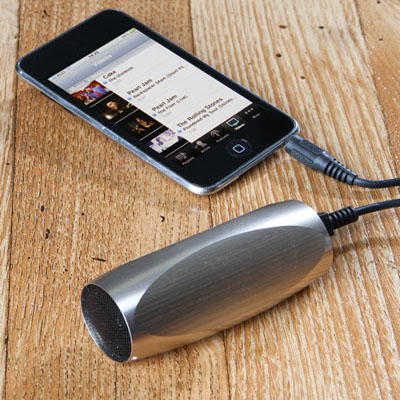 aluminum sound tube mp3 player
