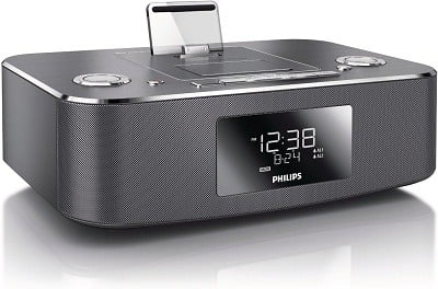 Philips DC390-37 Dual-Docking iPod, iPhone, iPad and Alarm Clock Speaker Dock -2