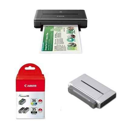 CANON PIXMA iP110 Wireless Mobile Printer With Ink and Battery Bundle 1