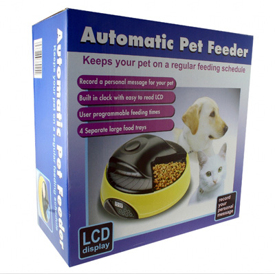 Automatic Pet Feeder with LCD Clock