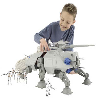 Star Wars Clone Wars AT-TE Vehicle can easily hold