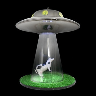 Alien Abduction Lamp The Stylishly Made Flying Saucer Lamp