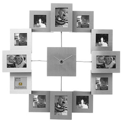 Aluminum Photo Frame Wall Clock - Your Personalized Wall Clock