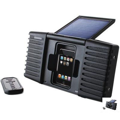 The First Solar Powered iPod Speaker