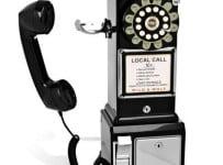 Black Diner Phone