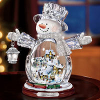 Illuminated Crystal Snowman