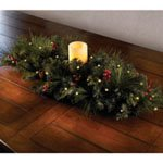 Cordless Prelit Evergreen Centerpiece