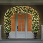 Lighted Double Door Archway