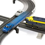 The Only Intersecting Slot Car And Train Set