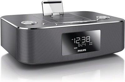 Philips DC390-37 Dual-Docking iPod, iPhone, iPad and Alarm Clock Speaker Dock -2