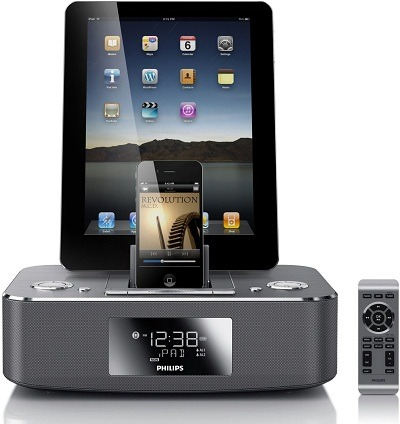 Philips DC390-37 Dual-Docking iPod, iPhone, iPad and Alarm Clock Speaker Dock