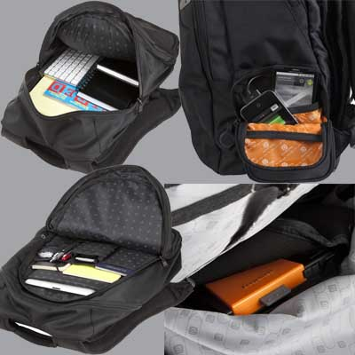 Powerbag Back Pack with Battery for Charging Smartphones, Tablets and eReaders 1