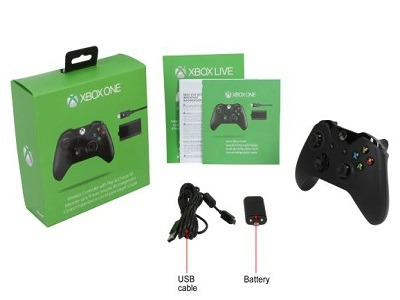 Xbox One Wireless Controller with Play and Charge Kit 3