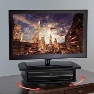 The 360 Degrees Swiveling TV Stand - A swiveling media stand perfect for optimal viewing from any angle