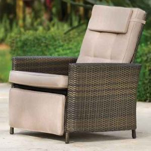 The Weatherproof Outdoor Recliner - A patio-friendly padded chair that reclines to any position you desire perfect for a relaxing summer siesta
