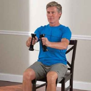 The Seated Arm Toning Trainer - Enjoy full range of motion resistant in toning and strengthening your arm without using cumbersome weights
