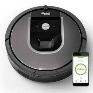 The iRobot Roomba 960 - A robotic vacuum that you can command to clean from anywhere via a smartphone app