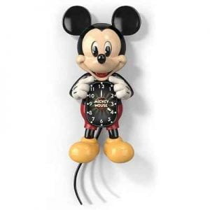 The Animated Mickey Mouse Wall Clock - A retro wall clock featuring Mickey Mouse with perpetually moving eyes and tail