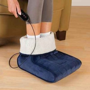 The Heated Foot Muff - provides heat therapy to soothe and relax sore, tired feet