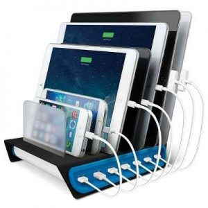 The 7 Device Charging Station - Now you can recharge USB devices simultaneously and quickly