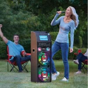 The Portable Wireless Karaoke Machine - Includes wireless microphone and CD of popular hits