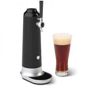 The Flavor Enhancing Home Beer Frother - A home beer dispenser that unlocks the flavor trapped in canned or bottled beer