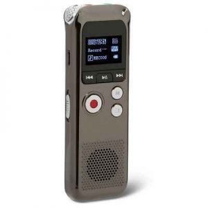 The Up To 48 Hour Voice Recorder - equipped with three microphones that pickup sound from up to 32 feet away in all directions