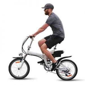 The 20 MPH Folding Electric Bicycle - An electric bicycle that reaches a top speed of 20 mph and quickly folds down for easy storage