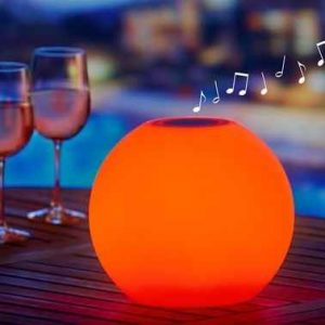 The Prismatic Speaker Sphere - A wireless spherical speaker with prismatic LEDs that let you tune its color to suit the mood or music