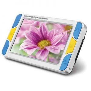 The Widescreen HD Digital Magnifier - A  cordless digital magnifier with a wider screen and higher resolution