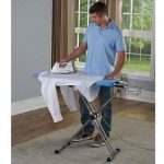 The Better Ironing Board - with 360 degrees function to enable one to press front and back of a shirt without removal