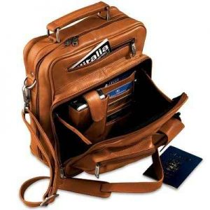 Carry-On for Travelers - A supple leather carry-on holds travel essentials without being cumbersome