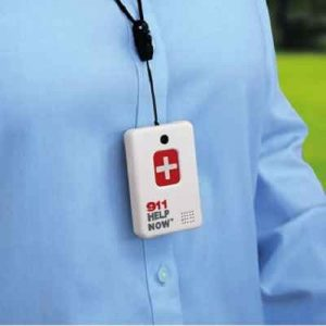 The 911 Instant Speakerphone - A wearable communicator that lets you speak to a 911 emergency responder with a single touch