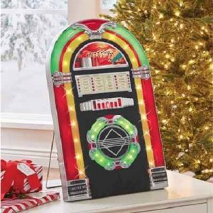 The Christmas Carol Jukebox - plays 18 classic holiday songs and lights up in synchronization with the music