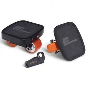 The Electric Board Skates - Now you can glide along at top speed without pushing off the ground.
