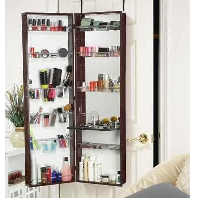 The Over The Door Cosmetic Armoire A Cosmetics Organizer