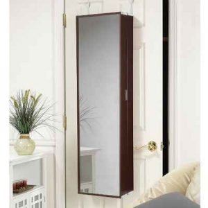 The Over The Door Cosmetic Armoire - A cosmetics organizer that provides compact over-the-door storage