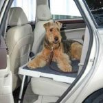 The Backseat Safety Dog Deck - creates a safe, comfortable platform for dogs riding in a vehicle's back seat