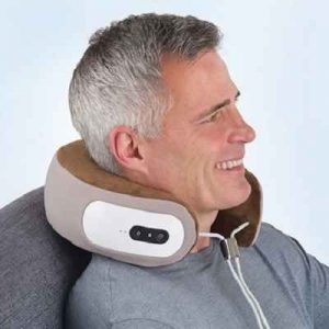 The Cordless Shiatsu Neck Massager - Helps knead away stress and muscle tension in the neck and spine