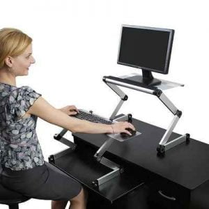 The Sit Or Stand Workstation - allow computer users to quickly switch from a seated to a standing work position