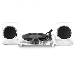 The Crystal Clear Stereo - A 2-speed and belt-driven turntable design to produce clear sound from your treasured vinyl records