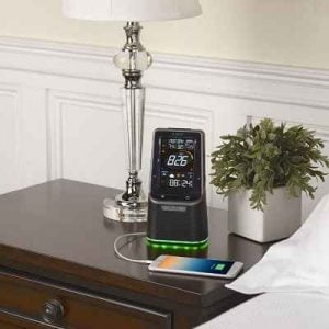 The Bluetooth Alarm Clock and Weather Station - Uses outdoor hygrometer-thermometer to easily sense the temperature and humidity