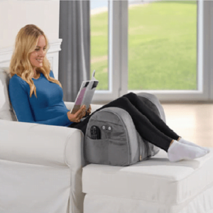 The Spinal Alignment Massaging Leg Rest - helps soothe pain caused by sciatica, arthritis and back and leg problem