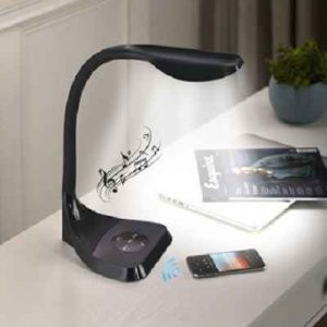 The Bluetooth Speaker LED Lamp - A desktop lamp that connects to a Bluetooth enabled device and wirelessly streams music
