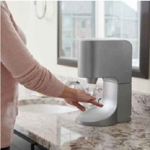 The Towel Eliminating Touchless Hand Dryer - The automatic hand dryer that helps reduce cross-contamination in a kitchen or the spread of germs in a bathroom